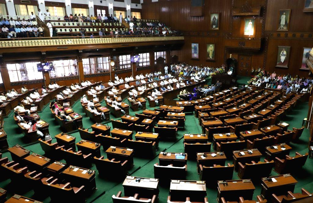 The Budget Session of Karnataka Assembly underway, in Bengaluru on Feb 8, 2019.