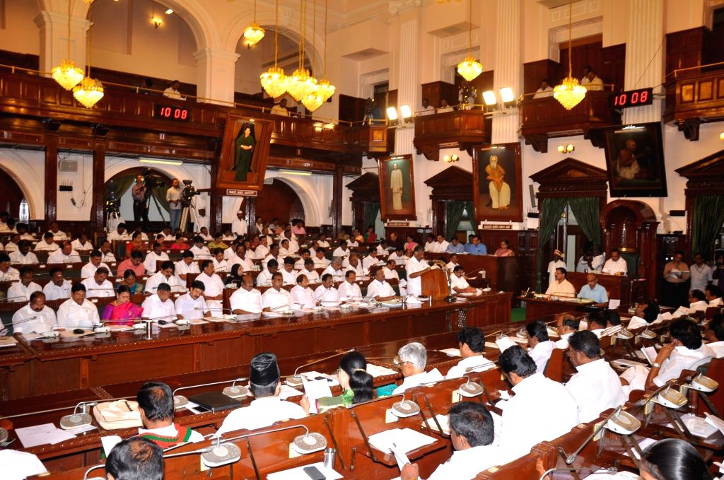 The Budget Session of Tamil Nadu Assembly underway, in Chennai on Feb 8, 2019.