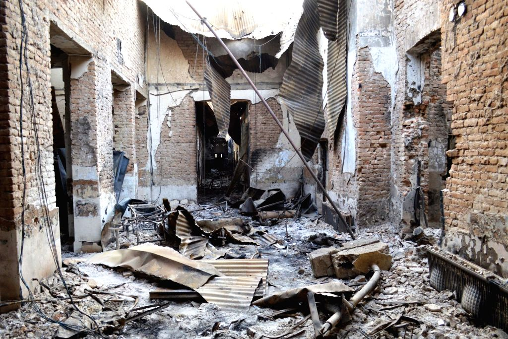 The burnt Medecins Sans Frontieres (MSF) hospital is seen after a U.S. airstrike in Kunduz city, capital of northern Kunduz province of Afghanistan, Oct. 17, 2015. ...