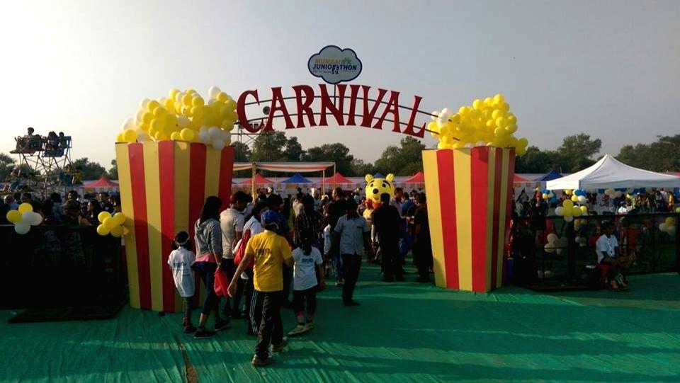 The Carnival that followed the inaugural Juniorthon im Mumbai in 2016