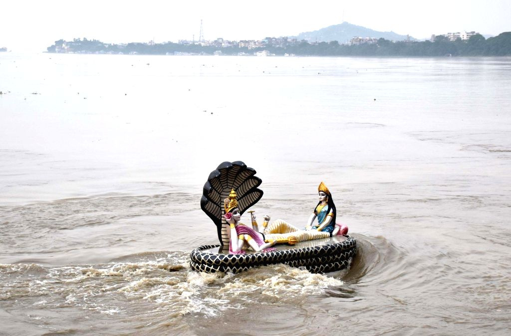 The Central Water Commission (CWC) of Jal Shakti Ministry on Tuesday issued a flood alert for the Brahmaputra river in three districts of Assam.(Photo: IANS)