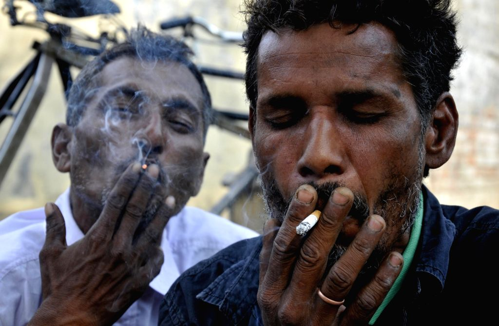 The Centre has directed strict adherence to instructions at places where work is being carried under the MGNREGA scheme. It has said that smoking cigarettes or beedis, chewing tobacco and spitting should be disallowed at the work sites. (File Photo: