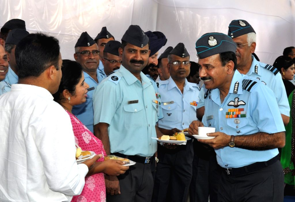 The Chief of Air Staff, Air Chief Marshal Arup Raha during his visit to HQ Training Command in Bengaluru on Nov 28, 2016.