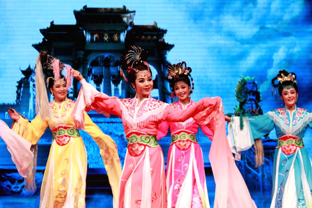 The Chinese Opera Show, Goddess Marriage by Anhui Huangmei Opera Theater, organized to celebrate the 'China- India Tourism Year 2016', in New Delhi on Jan,14,2016.