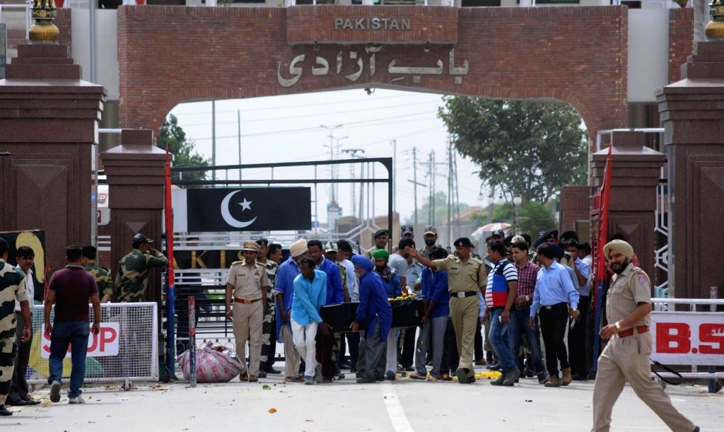 The coffin of Kirpal Singh, an Indian prisoner who died at the Kot Lakhpat Jail in Pakistan arrives in India through Attari-Wagha border on April 19, 2016. Singh was allegedly involved in a ... - Kirpal Singh