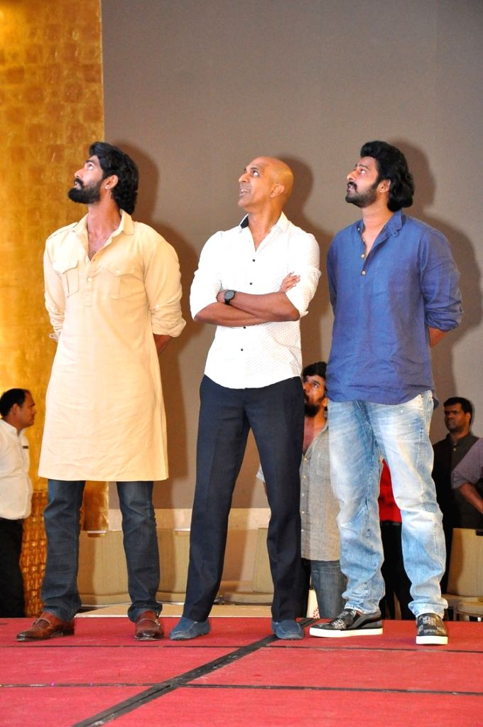 The conclusion press meet of film Bahubali 2 in Hyderabad on Sept. 30, 2016.