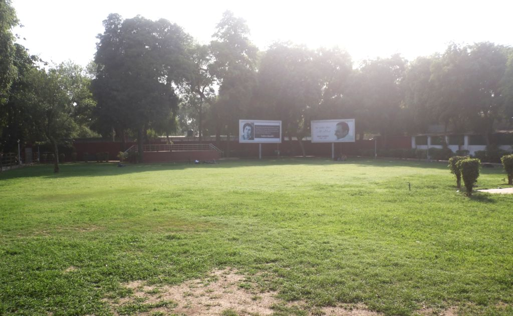 The Congress headquarter wears a deserted look after most exit polls showed the BJP-led NDA getting a comfortable majority in the recently concluded 2019 Lok Sabha elections, in New Delhi ...