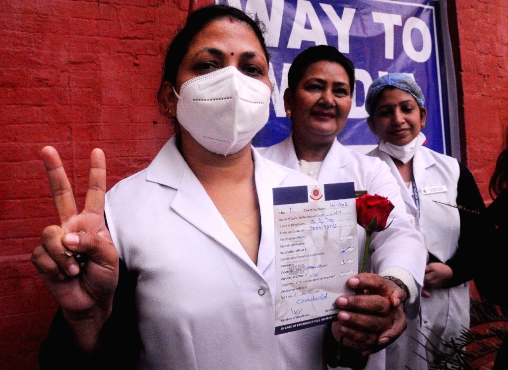 The Covid-19 vaccine drive in Gurugram was launched on Saturday with Prime Minister Narendra Modi launching the national-wide drive via video conferencing aimed at ending the pandemic. Credit - Narendra Modi