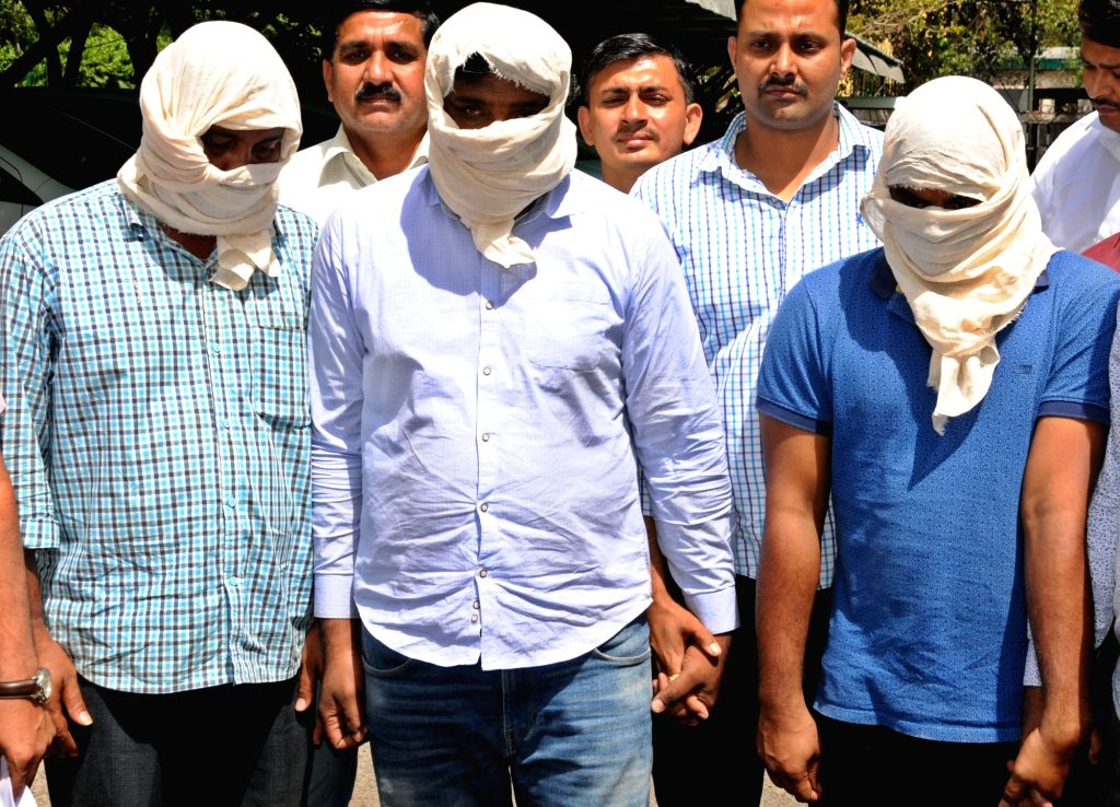 The crime branch of Delhi Police arrested three persons in connection with a fake Indian Territorial Army recruitment racket, in New Delhi on April 15, 2019.