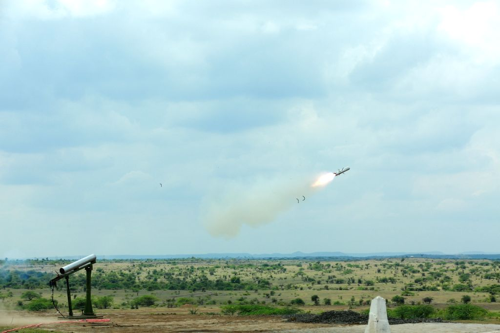 The Defence Research and Development Organisation (DRDO) successfully flight-tested a low-weight man-portableanti-tank guided missile (MPATGM) for the second time from Ahmednagar range in ...