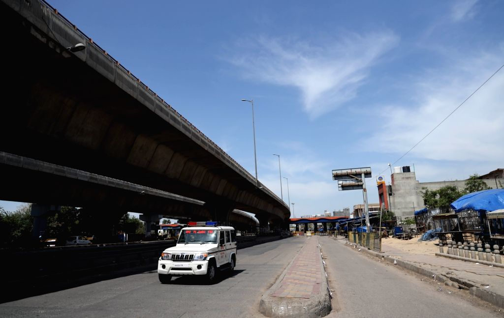 The Delhi-Faridabad Border that has been sealed in the wake of the countrywide lockdown imposed to contain the spread of novel coronavirus, on March 30, 2020.