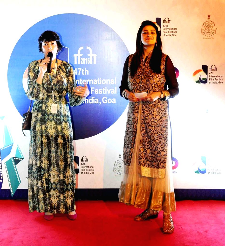 The Director of the film 'According To Her' Estelle Artus at the Red Carpet, during the 47th International Film Festival of India (IFFI-2016), in Panaji, Goa on Nov 22, 2016.