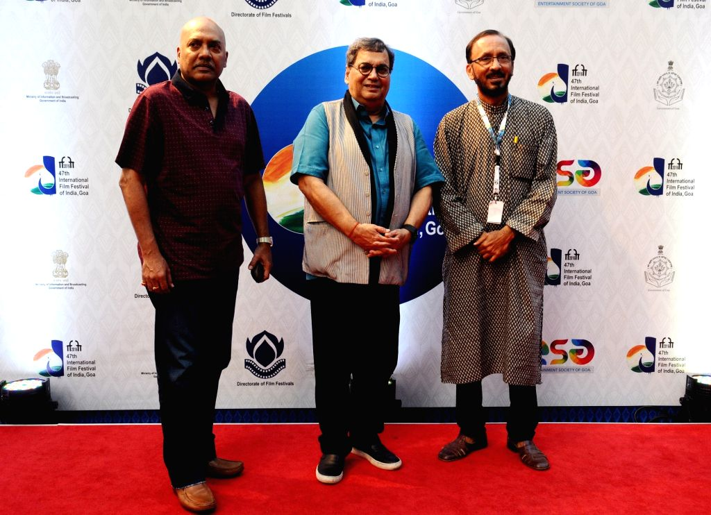 The Director Subhash Ghai at the Red Carpet, during the 47th International Film Festival of India (IFFI-2016), in Panaji, Goa on Nov 27, 2016.