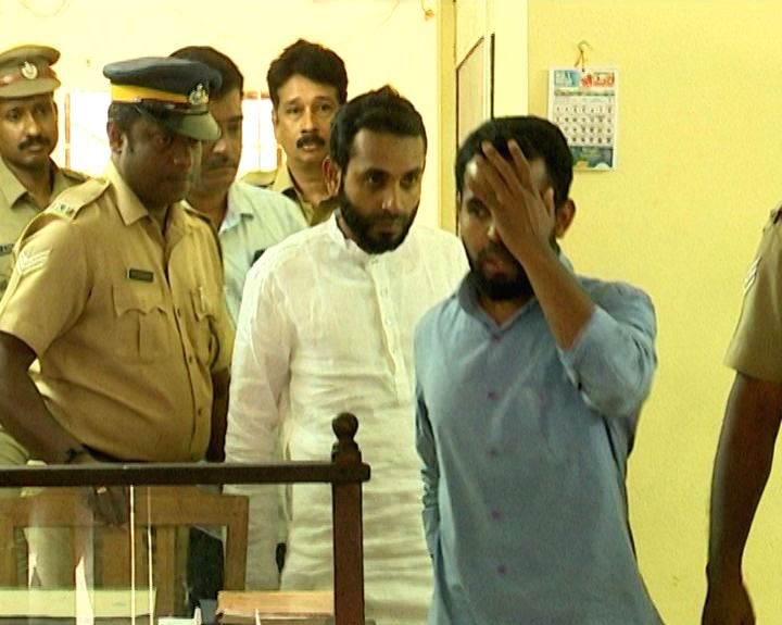 The Ernakulam central police take away the two accused Muhammad Insaf and Ansurudheen, natives of Kondotty in Malappuram district over the sexual assault case against a foreign national woman ...