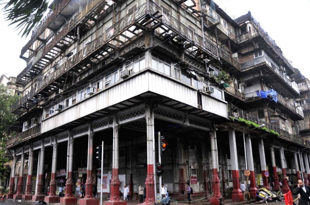 The Esplanade Mansion in Mumbai's Kala Ghoda a balcony of which collapsed crushing a car on July 16, 2018.