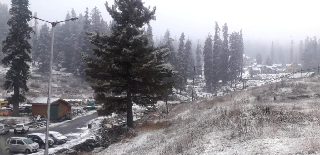 The famous Ski resort Gulmarg in North Kashmir???s Baramulla district received the season's first snowfall on Nov 14, 2020.
