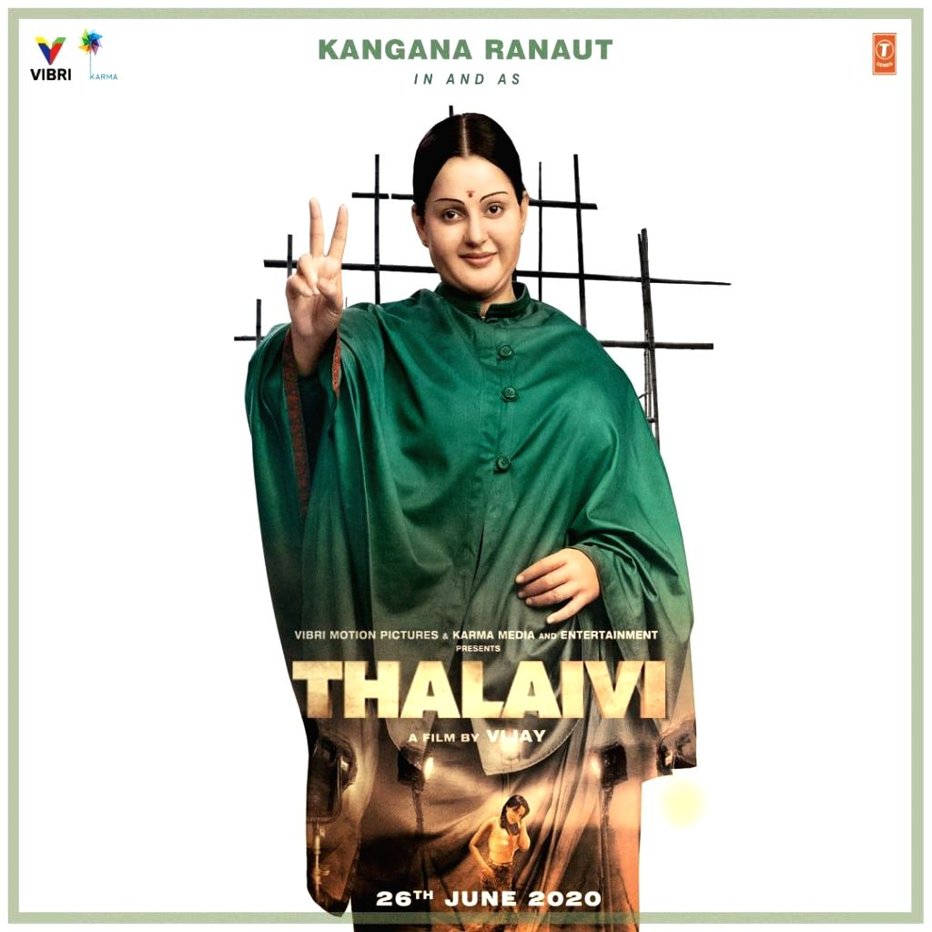 "The first look poster of ""Thalaivi"", which casts Kangana Ranaut as late Tamil Nadu chief minister J. Jayalalithaa, was launched on Saturday, and Twitterati are divided in their opinion. - J. Jayalalithaa and Kangana Ranaut"