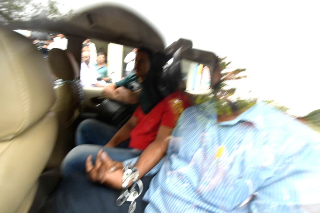 The five Islamic State (IS) suspects arrested by the National Investigation Agency (NIA) being taken to be produced before a Hyderabad court on June 30, 2016.