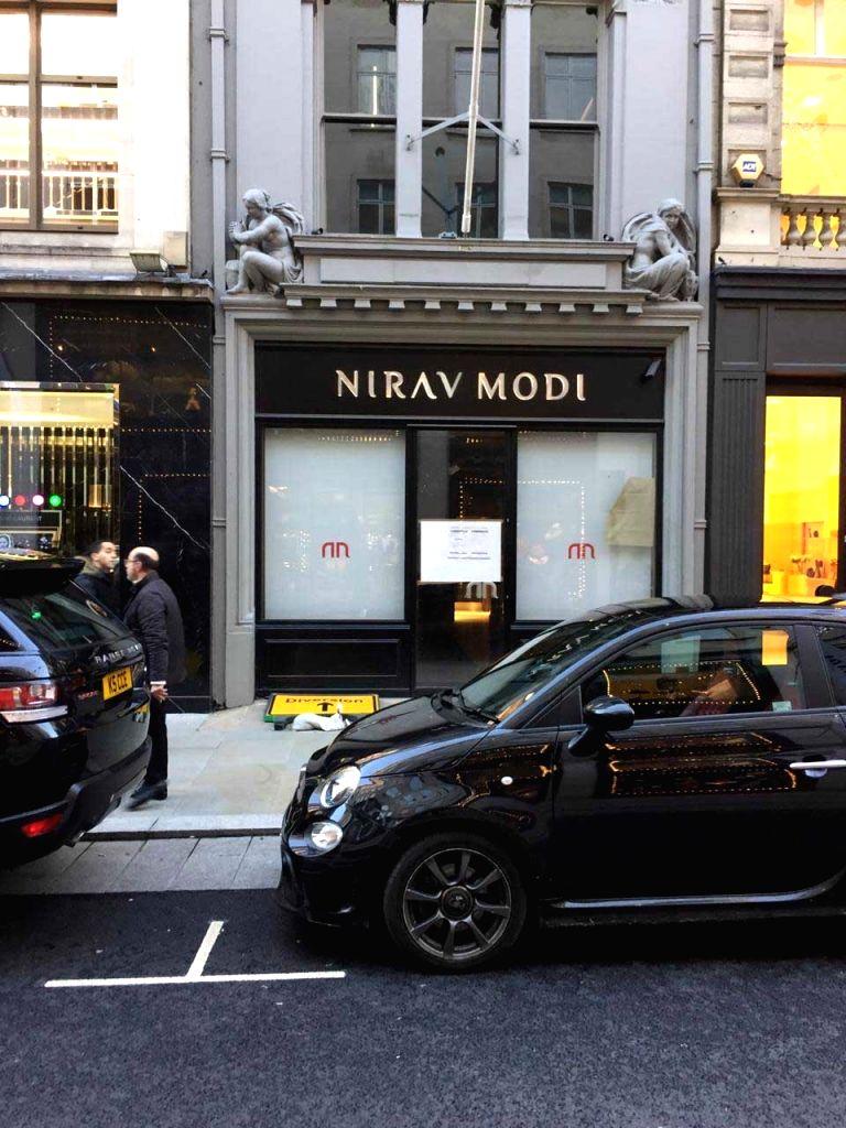 The former shop of fugitive diamantaire Nirav Modi, in Old Bond Street, Mayfair, London that was closed down and seized in July 2018. - Nirav Modi