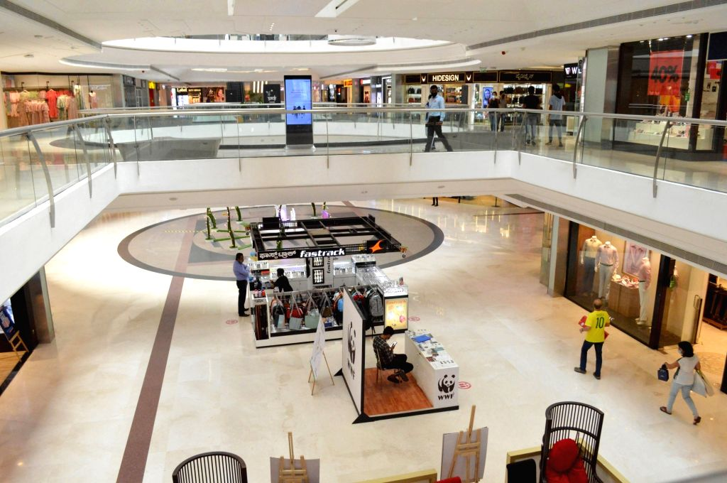 The Forum Mall bears a deserted look during a strict lockdown that has been re-imposed for 15 days in five wards across Bengaluru to contain the spread of COVID-19 and reduce the pandemic ...