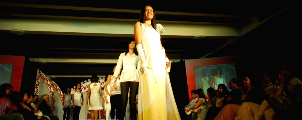 """The girls at the ramp, the winner of most exquisite girl  organised by """"Chandrani Pearls"""" in Kolkata on Thursday."""