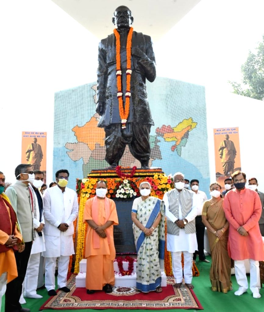 The Governor and Chief Minister of UP inaugurated the statue of Sardar Patel. - Sardar Patel