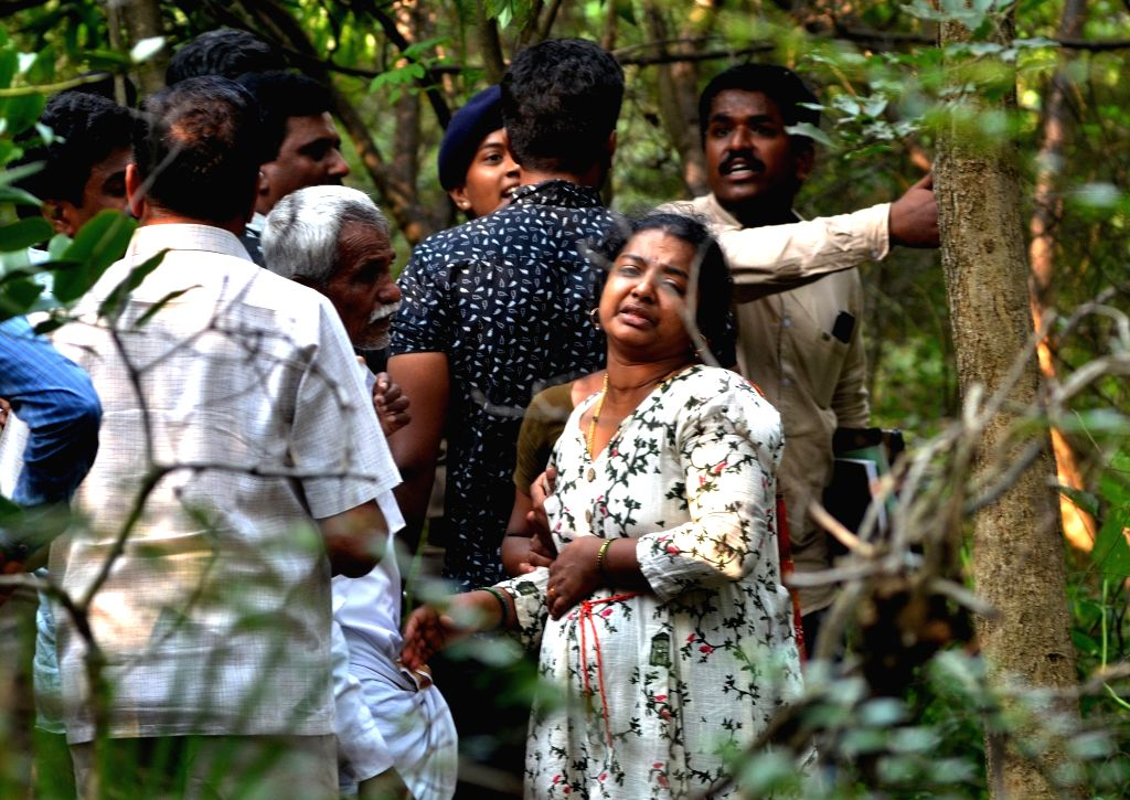 The grief-struck relatives of Karnataka Congress leader G. Parameshwara's aide N.S. Ramesh who committed suicide earlier in the day citing alleged harassment in connection with tax raids ...