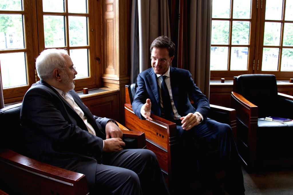 THE HAGUE, June 23, 2016 - Dutch Prime Minister Mark Rutte (R) meets with visiting Iranian Foreign Minister Mohammad Javad Zarif in The Hague, the Netherlands, June 23, 2016. - Mark Rutte