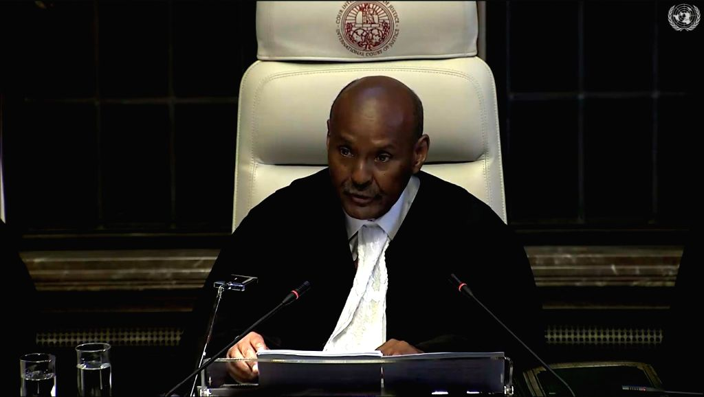 The Hague: President of ICJ, Judge Abdulqawi Ahmed Yusuf delivers judgment on the merits in the Kulbhushan Jadhav case at ICJ at The Hague, Netherlands on July 17, 2019.
