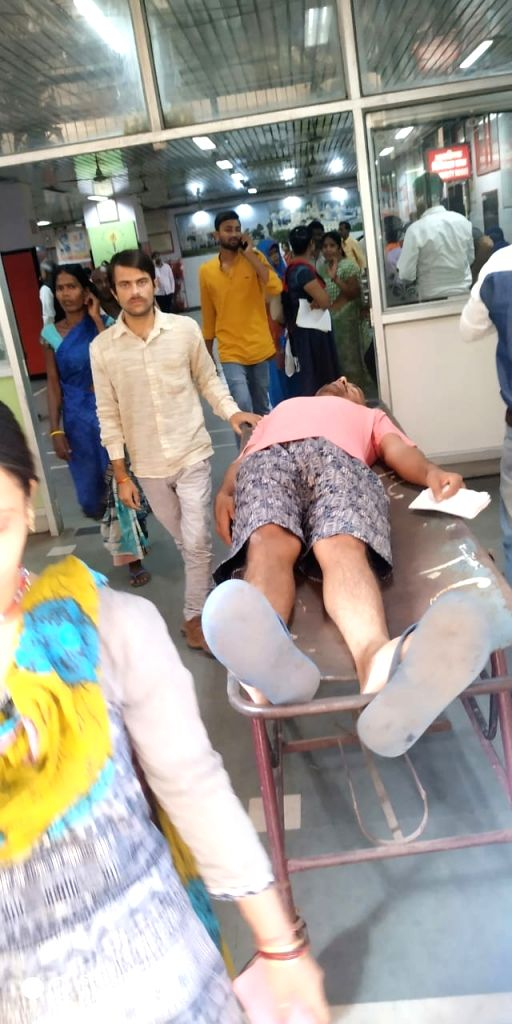 The health of a teacher working at Government Inter College Bilgaon in Banda district of Uttar Pradesh had worsened on Tuesday night. He has been referred to Lucknow from the district hospital.