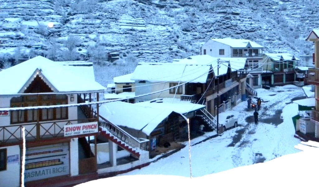 The higher reaches of Uttarakhand received fresh snowfall on Friday, while the lower areas were lashed by heavy rain. (Photo: IANS)