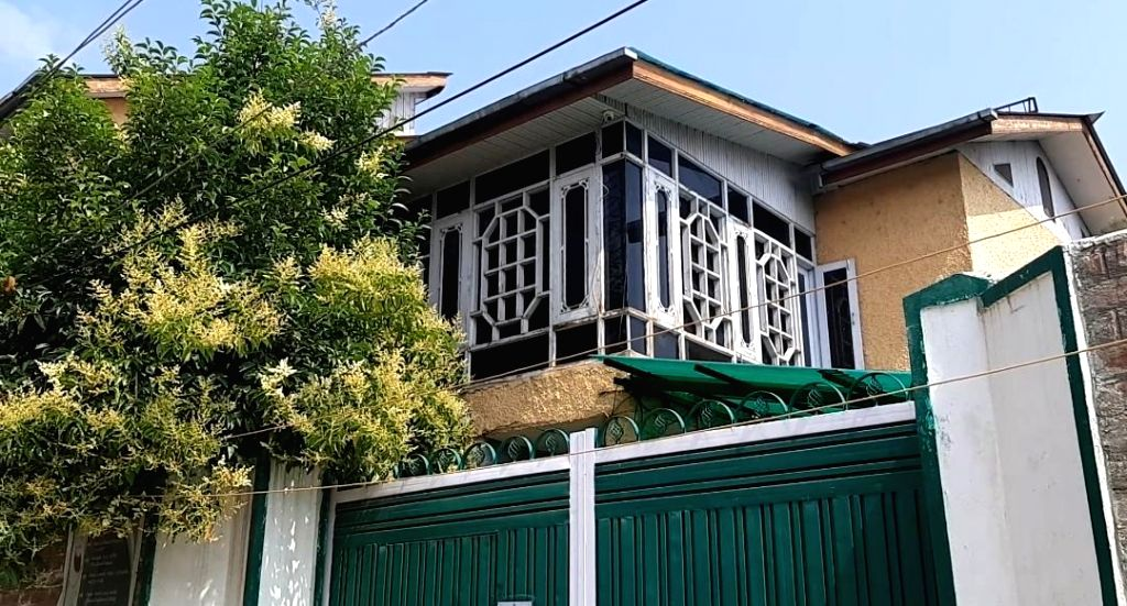 The house of Asiya Andrabi, chief of women's separatist group, 'Dukhtaran-e-Milat' that has been attached by the National Investigation Agency (NIA) in Srinagar on July 10, 2019. The order of attachment said the property represents proceeds of terror