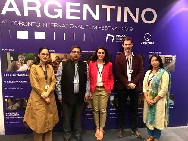 The Indian delegation at Toronto International Film Festival (TIFF) 2019, on Sep 7, 2019. The delegation met with a number of Key Stakeholders from the international film-making industry and ...