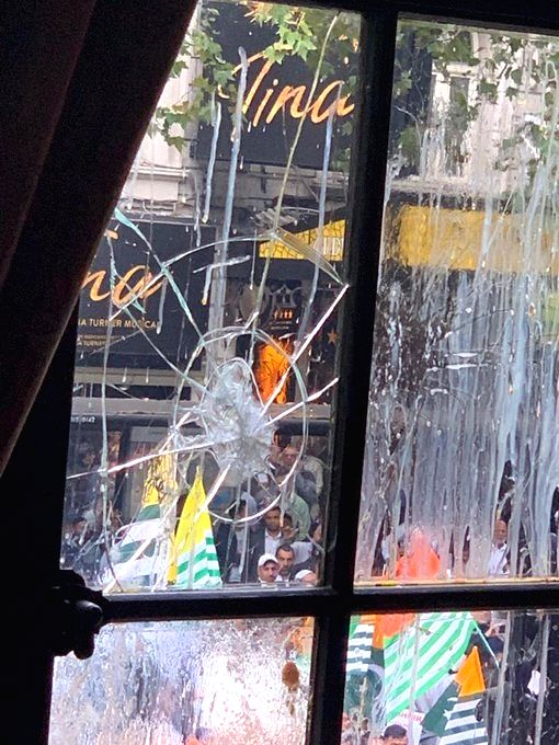 The Indian High Commission in London was once again attacked and vandalised by Pakistani protestors agitating against the scrapping of Article 370 and the restrictions imposed in Kashmir.