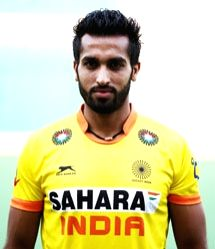 The Indian hockey player Dharamvir Singh who recently completed his 100th international match - 9th April, Sultan Azlan Shah Cup 2015 match against Canada in Ipoh, Malaysia. - Azlan Shah Cup