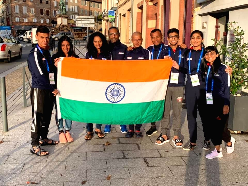 The Indian team of 9 ultra runners in Albi, France all set for the IAU 24-hour World Championship over this weekend.