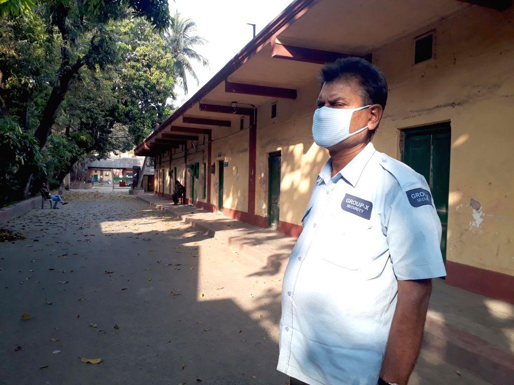 The Indrapuri Studios bear a deserted look amid COVID-19 (cornavirus) pandemic, in Kolkata on March 18, 2020.