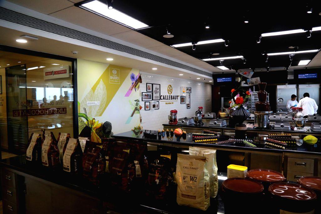 The interiors of the relocated Callebaut Chocolate Academy in Mumbai