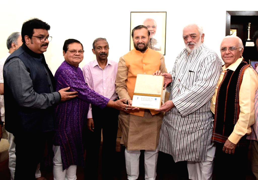 The Jury Members of 66th National Film Awards presents the Jury Report to the Union Minister for Environment, Forest & Climate Change and Information & Broadcasting Prakash ...