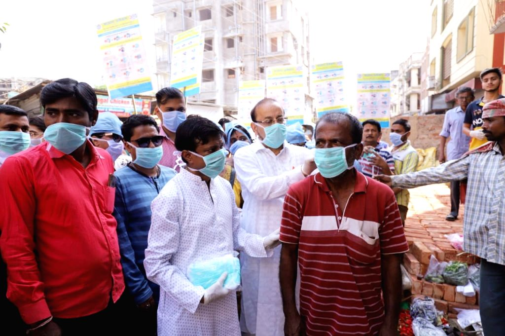The Kolkata Municipal Corporation (KMC) organises awareness campaign on COVID 19 (Coronavirus), in Kolkata on March 21, 2020.
