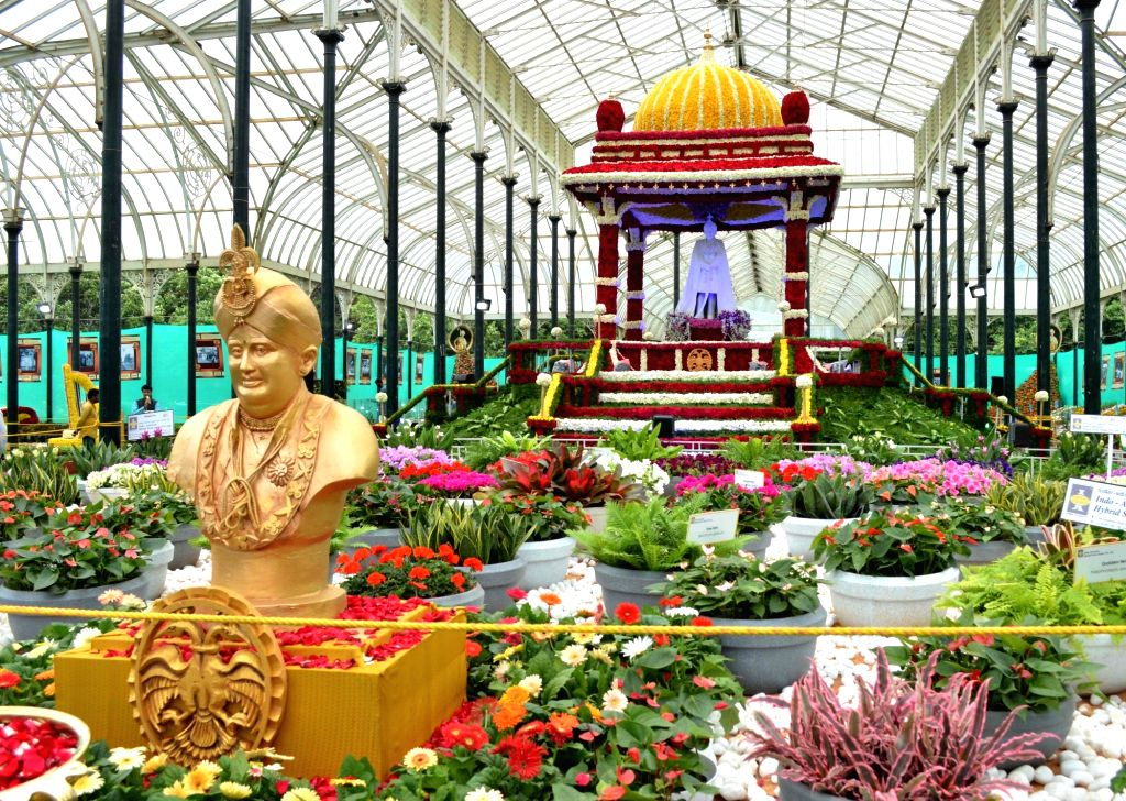The Lalbagh Botanical Garden all decked up for Annual Flower Show that will be a part of Independence Day celebrations, in Bengaluru on Aug 9, 2019.