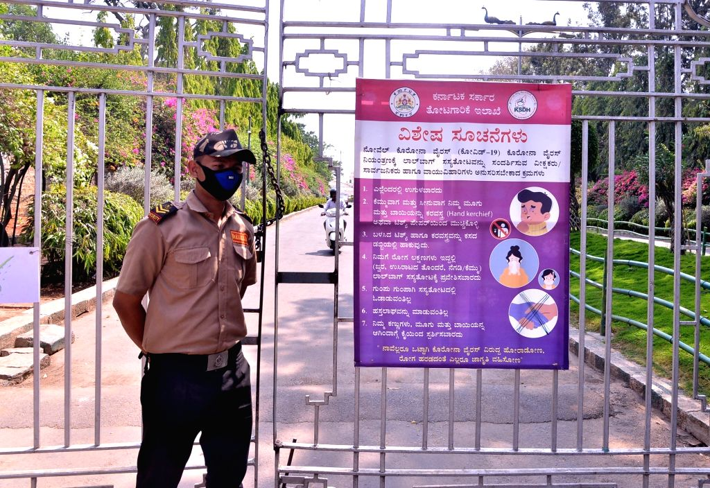 The Lalbagh Botanical Garden remains closed in the wake of increasing cases of COVID-19 (coronavirus), in Bengaluru on March 21, 2020.