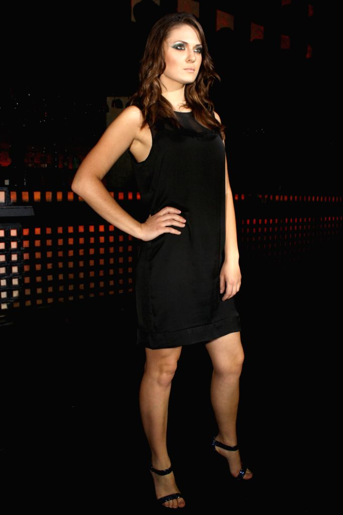 The launch of Fashion energy drink F-88 and showcasing of Calvin Klein`s latest collection, in New Delhi on September 05, 2014.