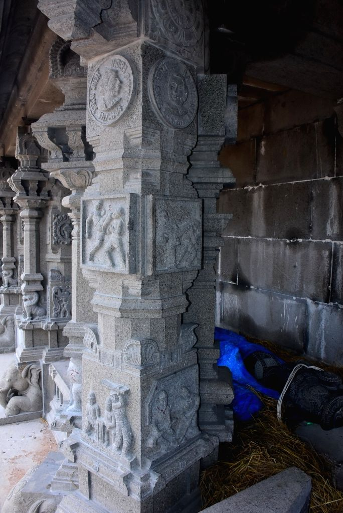 The lone BJP legislator in Telangana, Raja Singh, on Saturday warned that if carvings of the images of Chief Minister K. Chandrashekhar Rao and other politicians were not removed from the pillars of the Yadadri temple within a week, the government wo - K. Chandrashekha and Singh