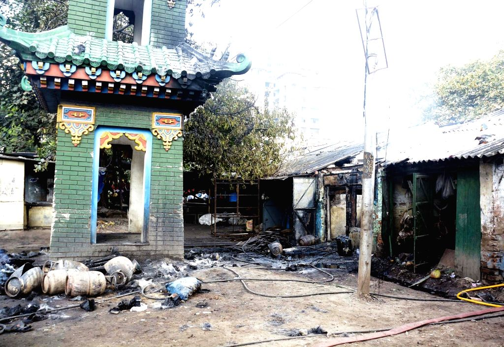 The LPG gas cylinder godown where a fire broke out on Oct 6, 2016. The reason of the fire is still not certain.