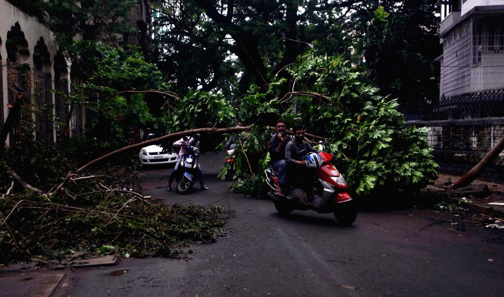 The Maharashtra state capital was largely spared from any major damage as cyclone tauktae the most powerful storm to hit the region in more than two decades, aftermath heavy rainfall in ...