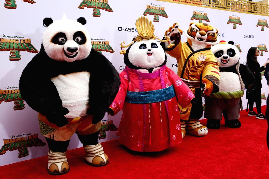 "The main characters of ""Kung Fu Panda 3"" greet their fans at the premiere of ""Kung Fu Panda 3"" in Hollywood, California of the United ..."