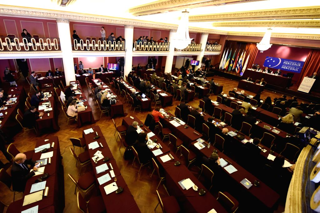 The Mercosur (Southern Common Market) Parliament holds a meeting in Montevideo, capital of Uruguay, Aug. 17, 2015. This was Mercosur Parliament's first plenary ...