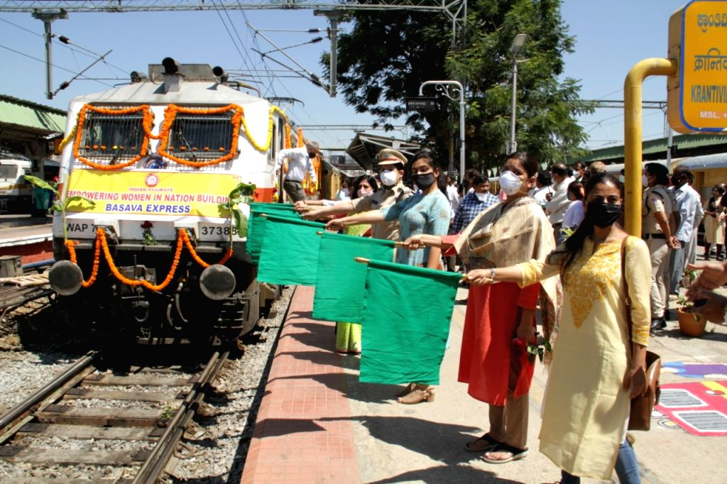 """The might of women was at full display at the city railway station to celebrate the International Women's Day, as they were allowed to run the show, an official said. """"The day commenced with ..."""
