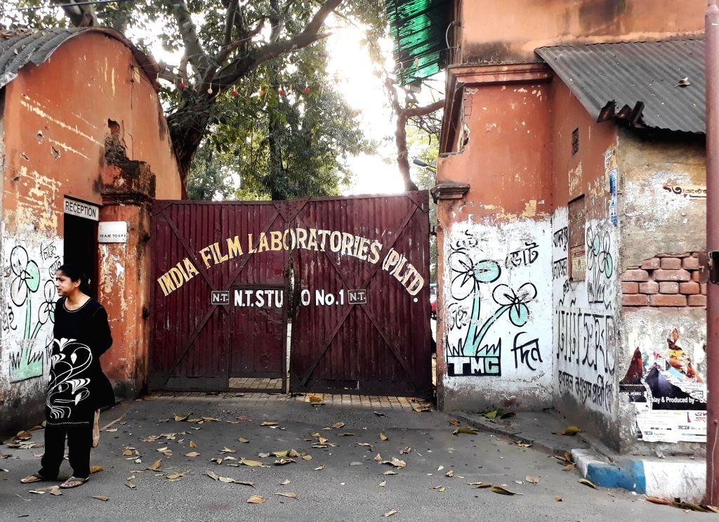 The Movie Tone Studio bears a deserted look amid COVID-19 (cornavirus) pandemic, in Kolkata on March 18, 2020.